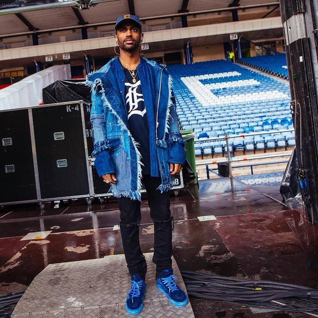 Big Sean Wearing C2H4 Parka, Saint Laurent Jeans And Vans Sneakers