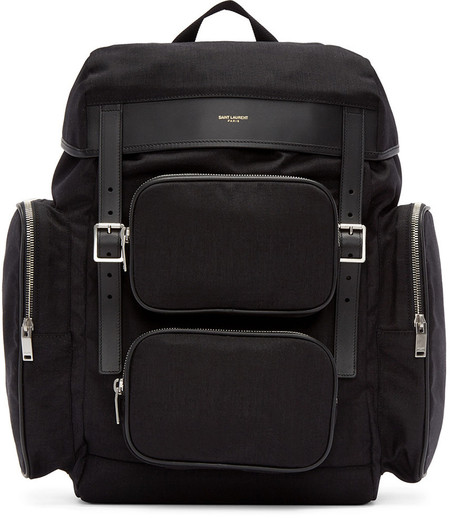 saint-laurent-black-canvas-hunting-backpack