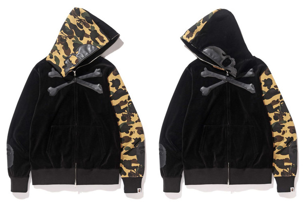 A BATHING APE × mastermind JAPAN VELVET FULL ZIP HOODIE 2