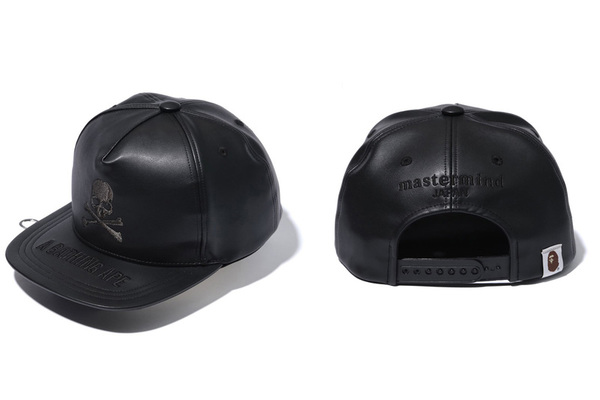 A BATHING APE × mastermind JAPAN LEATHER CAP 1
