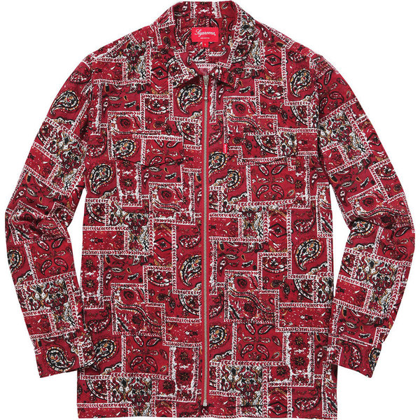 Supreme Broken Paisley Flannel Zip Up Shirt
