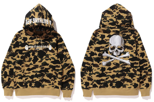 A BATHING APE × mastermind JAPAN CAMO PULLOVER HOODIE 1