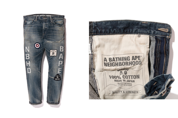 BAPE® NBHD SAVAGE PANTS DENIM DP NARROW 1