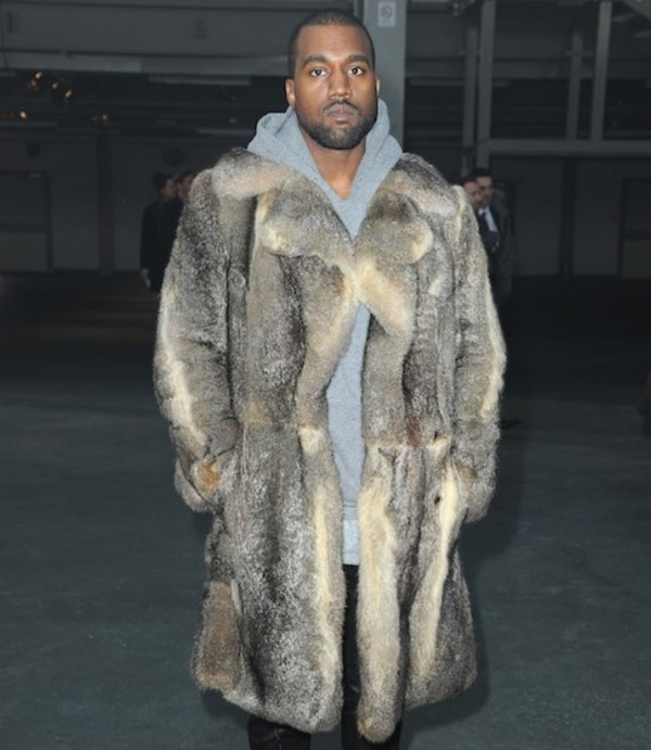 Kanye West Wearing Fur Coat