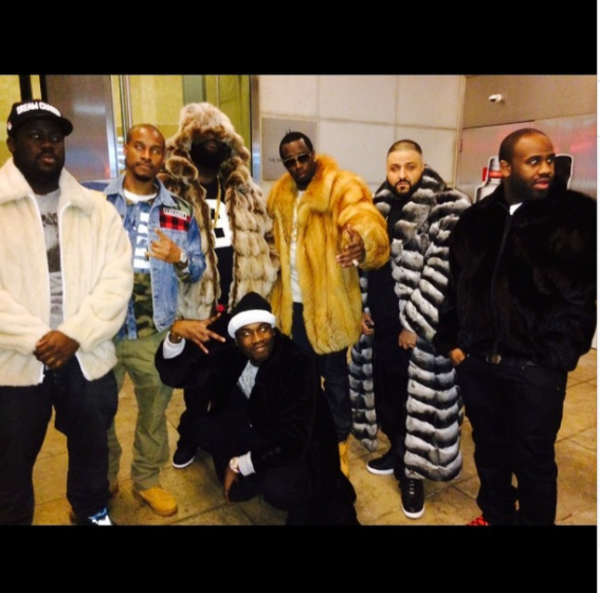 Rick Ross, Diddy and DJ Khaled Wearing Fur Coat