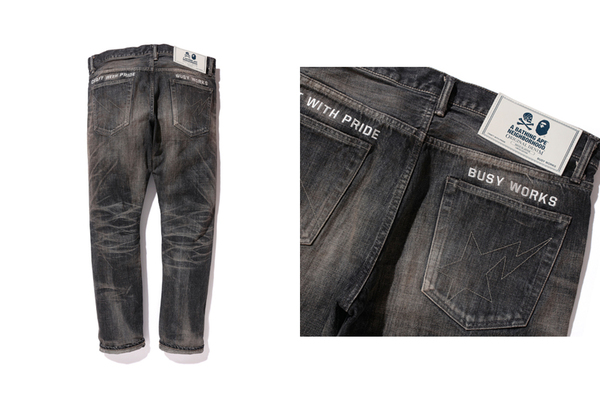 BAPE® NBHD SAVAGE PANTS DENIM DP NARROW 2