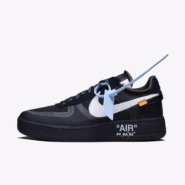 Off-White × Nike Air Force 1 Black & Volt 01