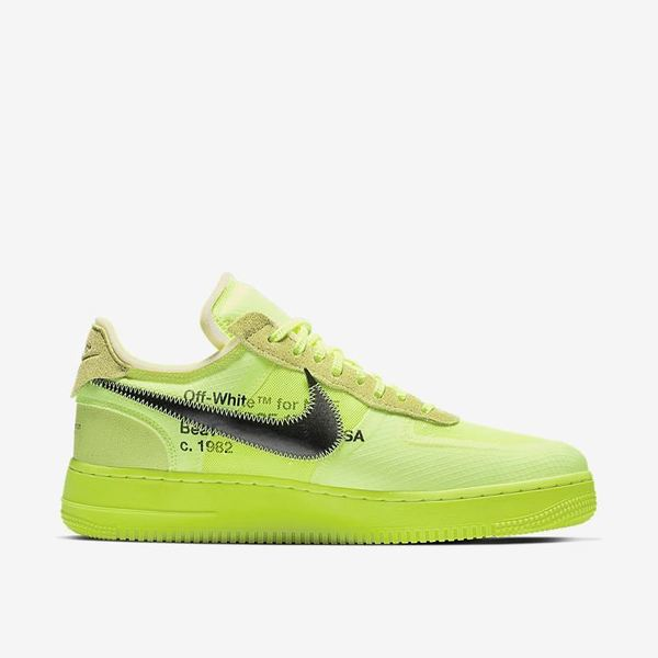 Off-White × Nike Air Force 1 Black & Volt 08