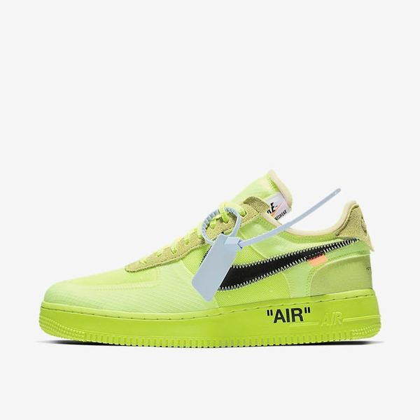 Off-White × Nike Air Force 1 Black & Volt 07