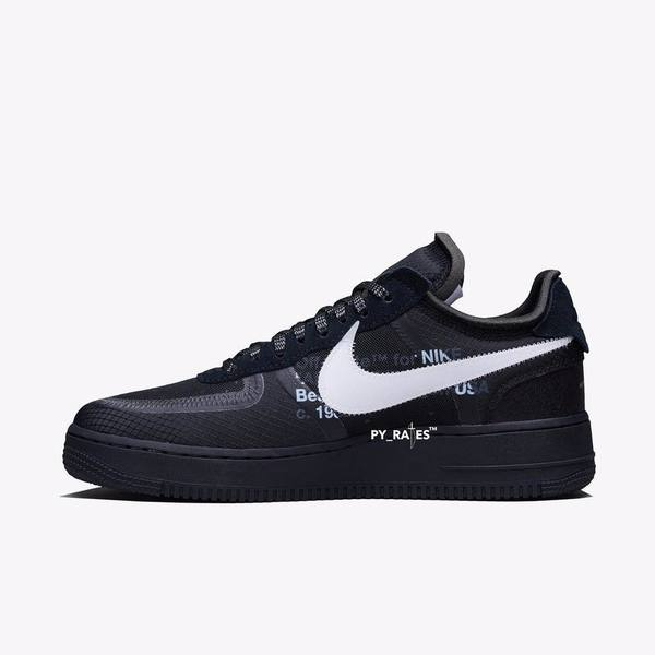 Off-White × Nike Air Force 1 Black & Volt 02