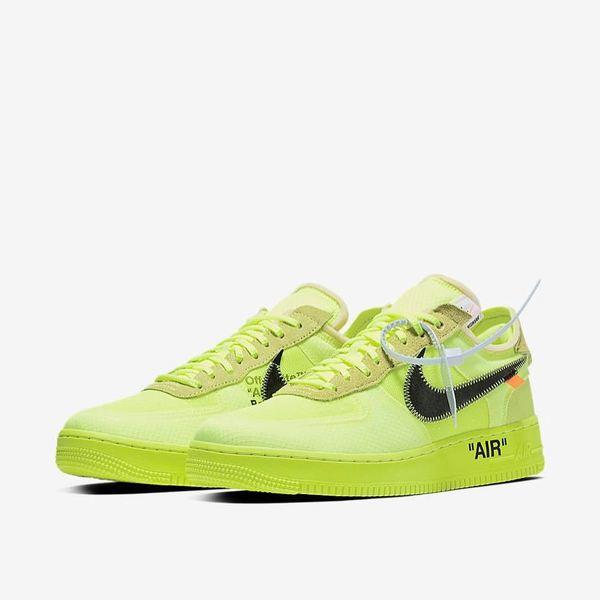 Off-White × Nike Air Force 1 Black & Volt 09